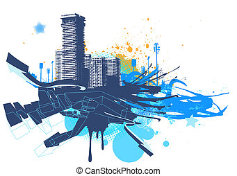 urban background - Vector illustration of urban background ...