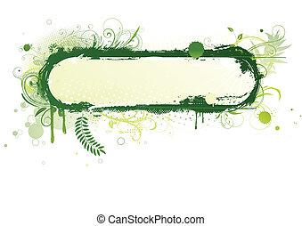floral background - Vector illustration of urban floral...