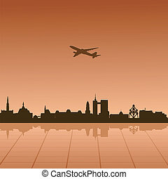 Vector illustration of urban landscape of Brussel