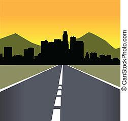 Vector illustration of urban skylin
