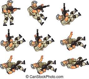 US Soldier Animation Sprite