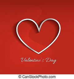 valentine day red background with heart