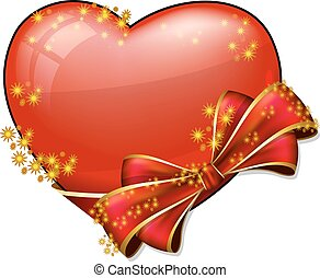 Valentine heart with bow