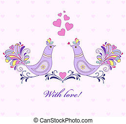 valentine`s card - Vector illustration of valentine`s card ...