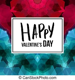 Vector illustration of Valentines day card template.