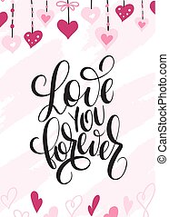 Vector illustration of valentine's day greetings card with ...