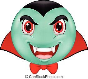 Vampire emoticon cartoon