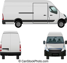 van - vector illustration of van to put your own design on, ...
