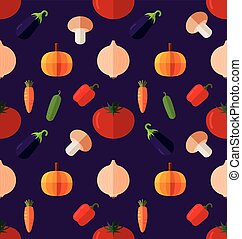 vegetable seamless pattern.