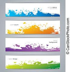 Vector illustration of Vegetables colorful doodles set