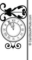 vintage clock - Vector illustration of vintage clock