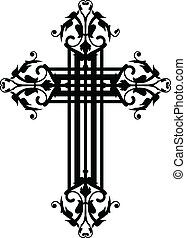 vintage cross - Vector illustration of vintage cross