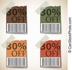 Vintage Discount Tags Design