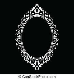 vintage frame - Vector illustration of vintage frame