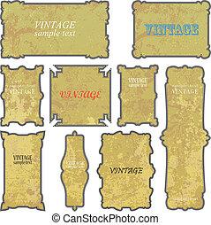 Vector illustration of Vintage fram