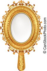 vintage mirror - Vector illustration of vintage mirror