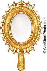 vintage mirror - Vector illustration of vintage mirror