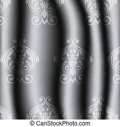 vintage silver material