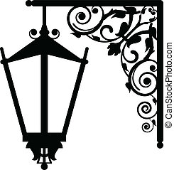 Vector illustration of vintage streetlight