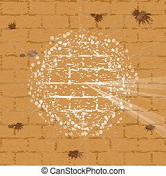 Vector illustration of wailing wall