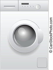 washing machine - Vector illustration of washing machine