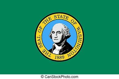 Vector Illustration of Washington state flag