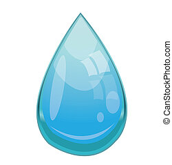 Vector illustration of  water drop