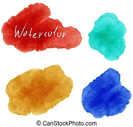 Vector illustration of Watercolor set