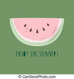 Vector illustration of watermelon slice