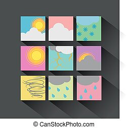 Weather Icon set flat design