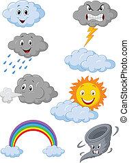 Weather symbol cartoon - vector illustration of Weather ...