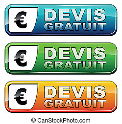 free quote (french version) - vector illustration of web ...