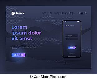 Vector illustration of web page design for website and mobile website development.