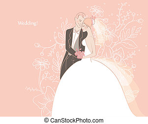 Wedding - Vector illustration of Wedding