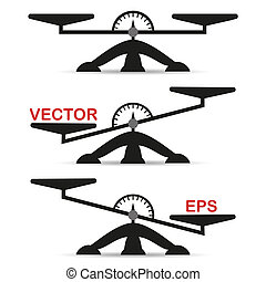 Vector illustration of weights. Libra icon isolated on a light background. Element for your design.
