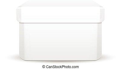 Vector illustration of white box