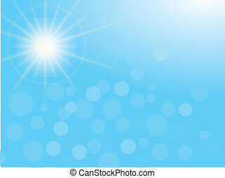 white rays over blue sky background