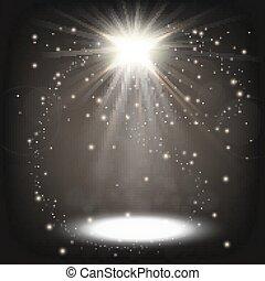 White spotlight shining - Vector Illustration Of White...