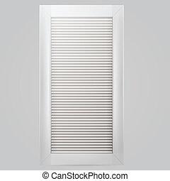 Vector illustration of white window shutter