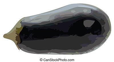 Vector Illustration of Whole Eggplant