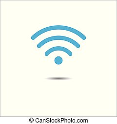 Vector illustration of wifi symbol. Technology and communication concept.