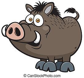 Wild boar - Vector illustration of Wild boar