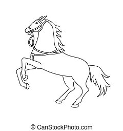 Vector illustration of wild horse silhouette