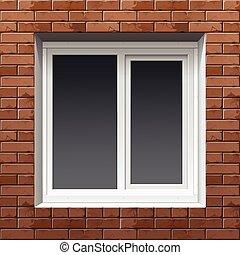 Window on a Brick Wall