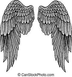 Wings tattoo modern