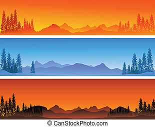 winter banner background - vector illustration of winter ...
