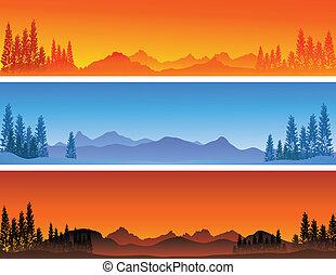 winter banner background - vector illustration of winter ...