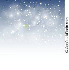 winter bokeh background - vector illustration of winter...