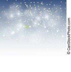 winter bokeh background - vector illustration of winter ...