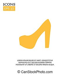 vector illustration of woman shoe flat design icon